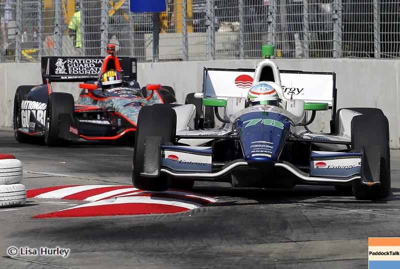 September 1: Oriol Servia and Simona de Silvestro during the IndyCar Grand Prix of Baltimore.