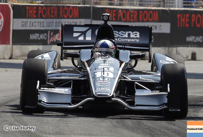September 1: Dario Franchitti during the IndyCar Grand Prix of Baltimore.