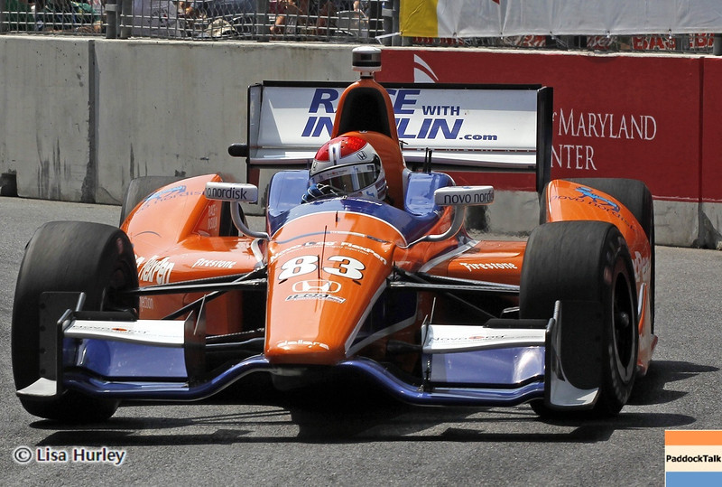 August 31: Charlie Kimball during IndyCar qualifying for the Grand Prix of Baltimore.