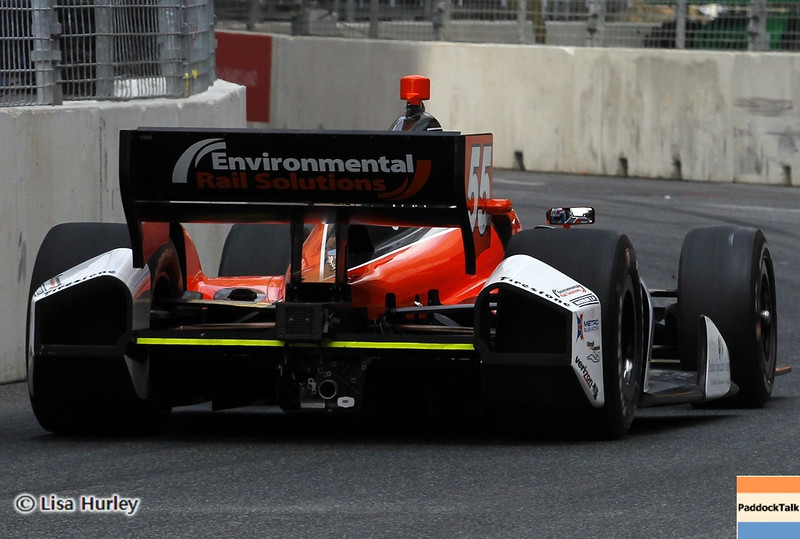 August 30: Tristan Vautier during IndyCar practice for the Grand Prix of Baltimore.