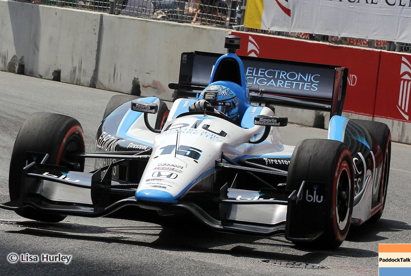 August 31: Graham Rahal during IndyCar qualifying for the Grand Prix of Baltimore.