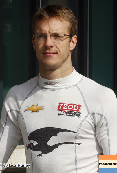 August 30: Sebastien Bourdais during IndyCar practice for the Grand Prix of Baltimore.
