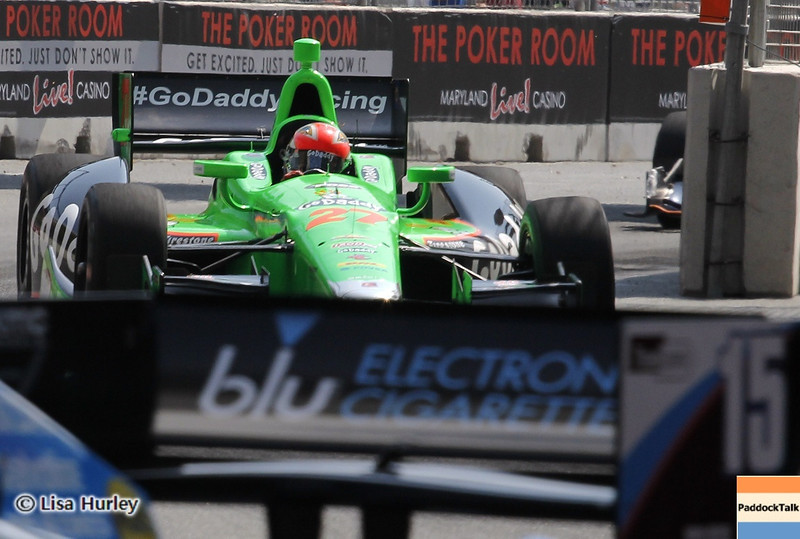 September 1: Graham Rahal and James Hinchcliffe during the IndyCar Grand Prix of Baltimore.