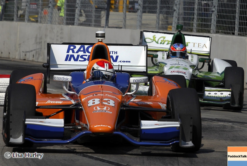 September 1: Charlie Kimball and Stefan Wilson during the IndyCar Grand Prix of Baltimore.