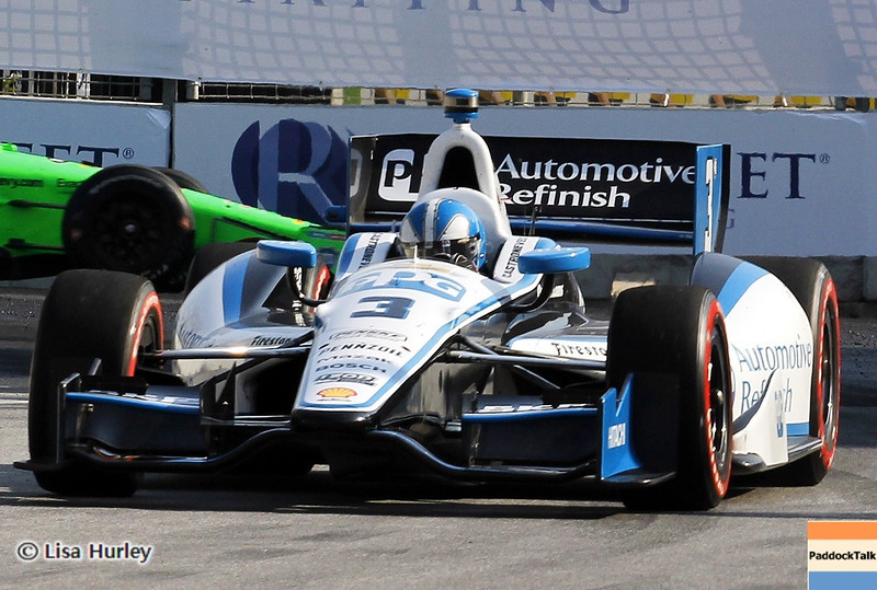 September 1: Helio Castroneves and James Hinchcliffe during the IndyCar Grand Prix of Baltimore.