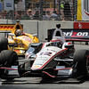 August 31: Ryan Hunter-Reay and Will Power during IndyCar qualifying for the Grand Prix of Baltimore.