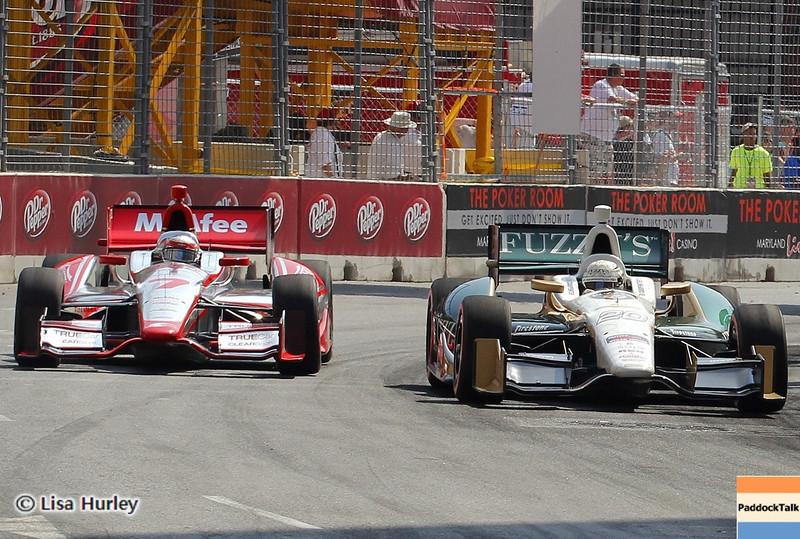 September 1: Sebastien Bourdais and Ed Carpenter during the IndyCar Grand Prix of Baltimore.