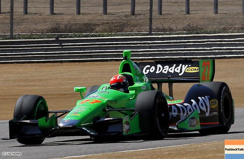 MARCH 12: James Hinchcliffe at IndyCar Spring Training at Barber Motorsports Park.