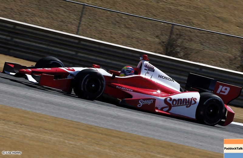 MARCH 13: Justin Wilson at IndyCar Spring Training at Barber Motorsports Park.