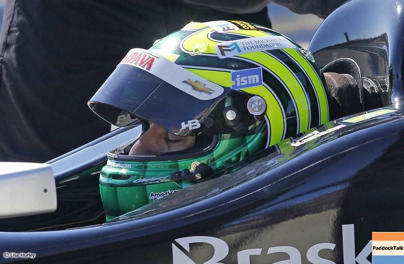 MARCH 13: Tony Kanaan at IndyCar Spring Training at Barber Motorsports Park.