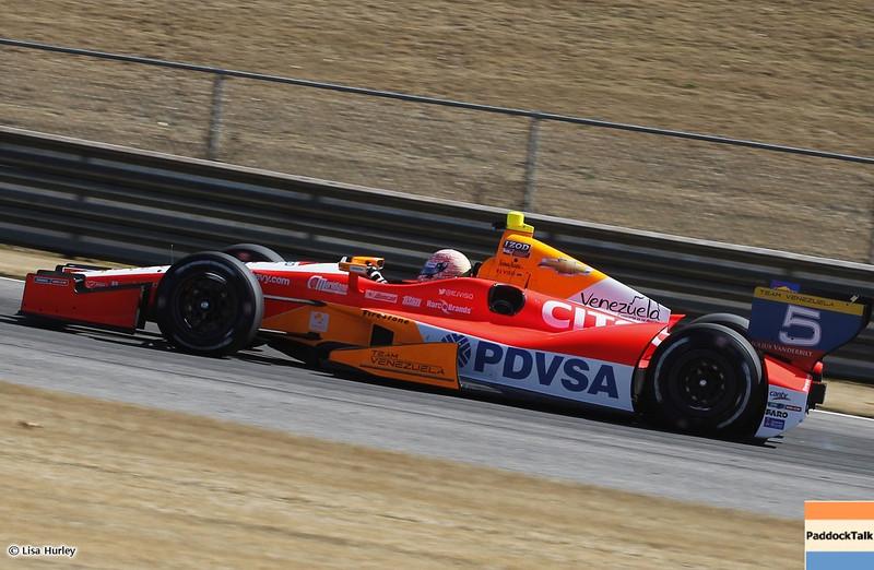 MARCH 13: EJ Viso at IndyCar Spring Training at Barber Motorsports Park.