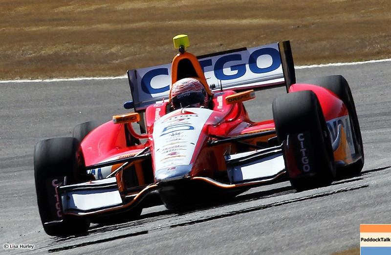 MARCH 12: EJ Viso at IndyCar Spring Training at Barber Motorsports Park.