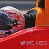 MARCH 12: EJ Viso at IndyCar Spring Training at Barber Motorsports Park.