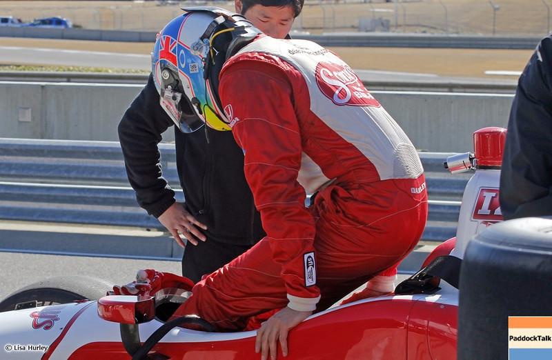 MARCH 13: Justin Wilson at IndyCar Spring Training at Barber Motorsports Park.