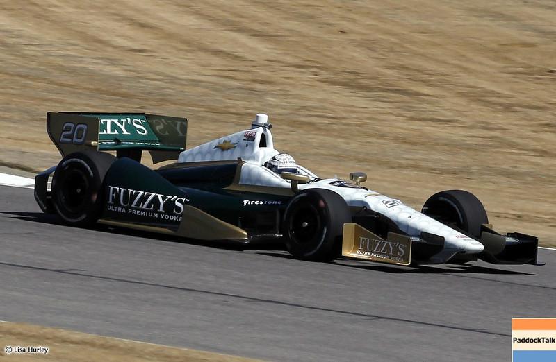 MARCH 12: Ed Carpenter at IndyCar Spring Training at Barber Motorsports Park.
