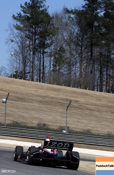 MARCH 12: AJ Allmendinger at IndyCar Spring Training at Barber Motorsports Park.