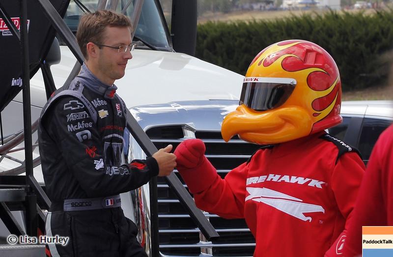 APRIL 7: Sebastien Bourdais before the Honda Grand Prix of Alabama race at Barber Motorsports Park.