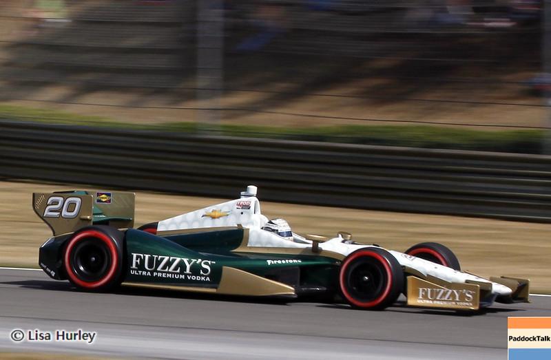 APRIL 7: Ed Carpenter during the Honda Grand Prix of Alabama race at Barber Motorsports Park.