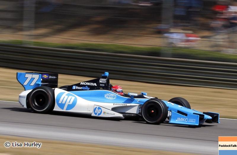 APRIL 7: Simon Pagenaud during the Honda Grand Prix of Alabama race at Barber Motorsports Park.