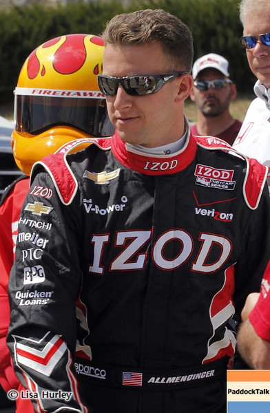 APRIL 7: A.J. Allmendinger before the Honda Grand Prix of Alabama race at Barber Motorsports Park.