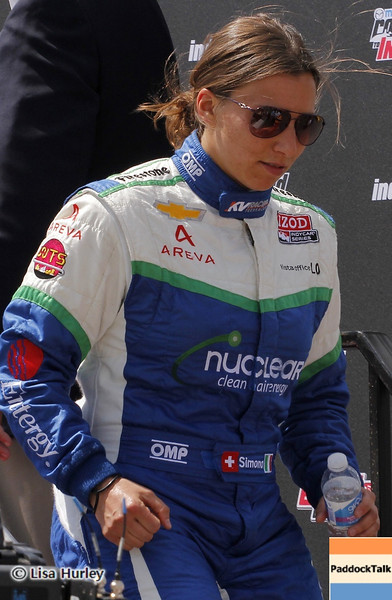APRIL 7: Simona de Silvestro before the Honda Grand Prix of Alabama race at Barber Motorsports Park.