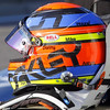 APRIL 6: Josef Newgarden's helmet during qualifying for the Honda Grand Prix of Alabama at Barber Motorsports Park.