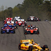 APRIL 7: Race start at the Honda Grand Prix of Alabama race at Barber Motorsports Park.
