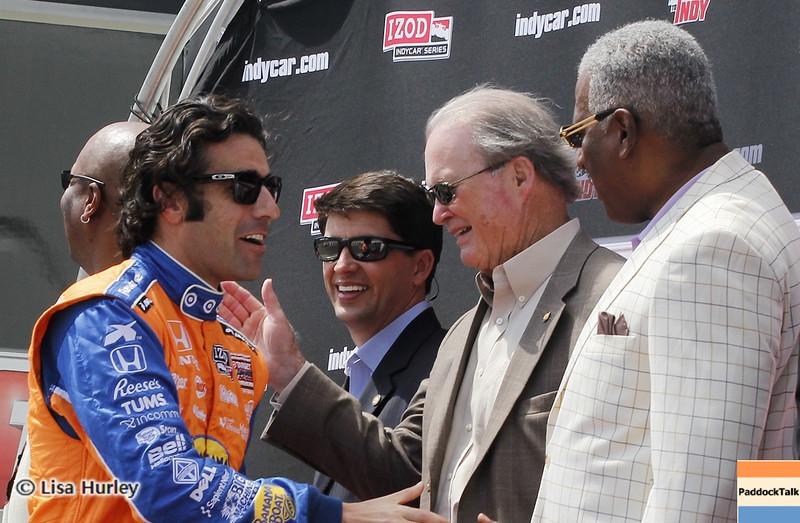 APRIL 7: Dario Franchitti before the Honda Grand Prix of Alabama race at Barber Motorsports Park.