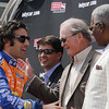 APRIL 7: Dario Franchitti before the Honda Grand Prix of Alabama race at Barber Motorsports Park.