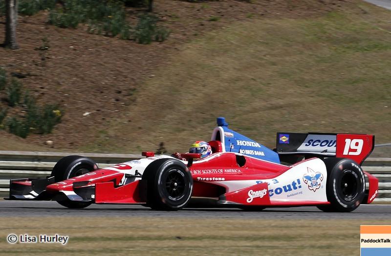 APRIL 7: Justin Wilson during the Honda Grand Prix of Alabama race at Barber Motorsports Park.