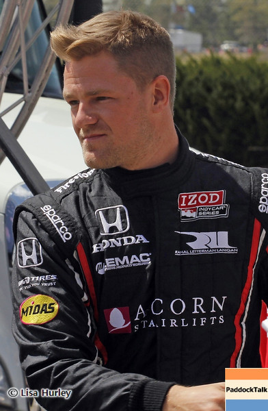 APRIL 7: James Jakes before the Honda Grand Prix of Alabama race at Barber Motorsports Park.