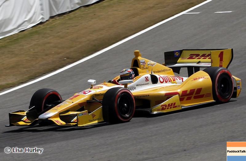 APRIL 6: Ryan Hunter-Reay during qualifying for the Honda Grand Prix of Alabama at Barber Motorsports Park.