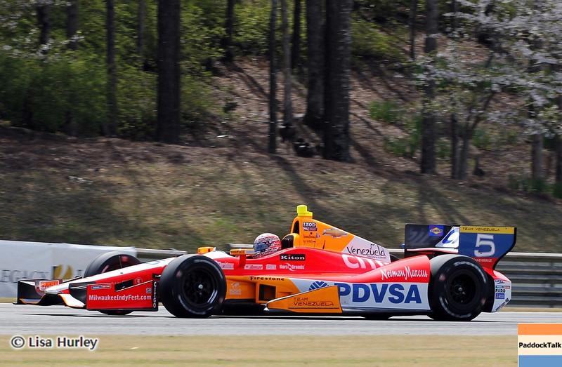 APRIL 6: EJ Viso during qualifying for the Honda Grand Prix of Alabama at Barber Motorsports Park.