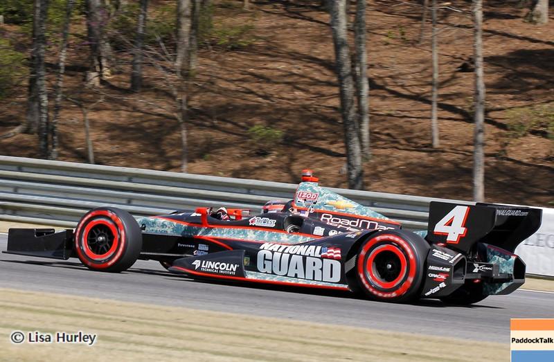 APRIL 7: JR Hildebrand during the Honda Grand Prix of Alabama race at Barber Motorsports Park.