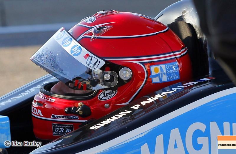 APRIL 6: Simon Pagenaud during qualifying for the Honda Grand Prix of Alabama at Barber Motorsports Park.
