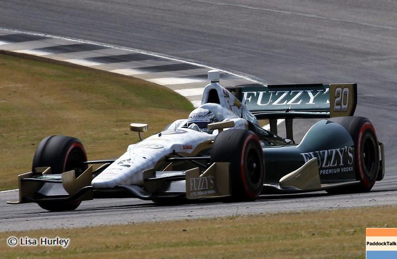 APRIL 6: Ed Carpenter during qualifying for the Honda Grand Prix of Alabama at Barber Motorsports Park.