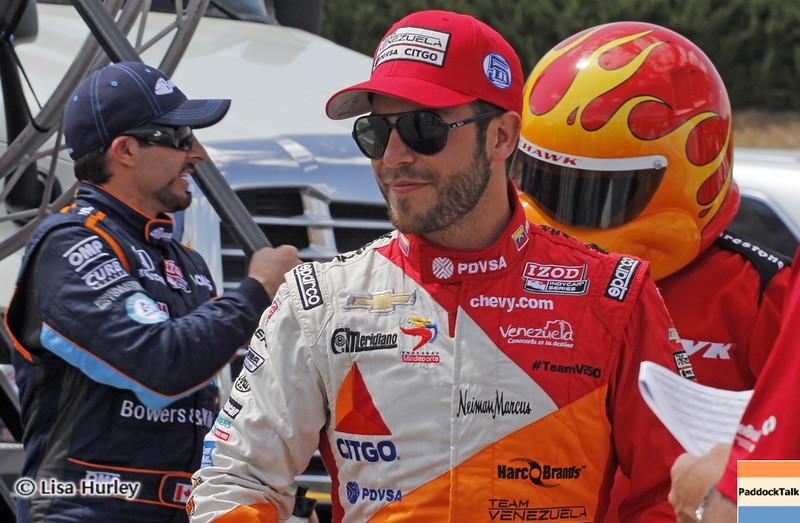 APRIL 7: EJ Viso before the Honda Grand Prix of Alabama race at Barber Motorsports Park.