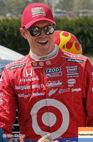 APRIL 7: Scott Dixon before the Honda Grand Prix of Alabama race at Barber Motorsports Park.