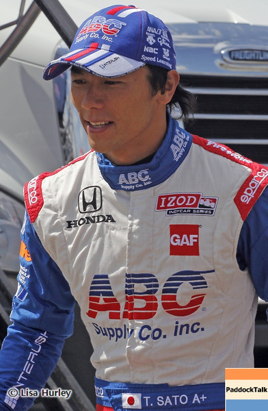 APRIL 7: Takuma Sato before the Honda Grand Prix of Alabama race at Barber Motorsports Park.