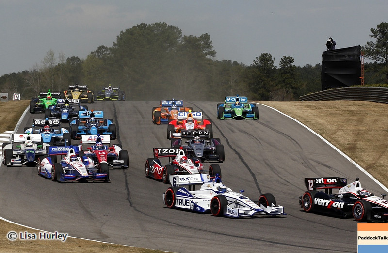 APRIL 7: Lap 2 during the Honda Grand Prix of Alabama race at Barber Motorsports Park.