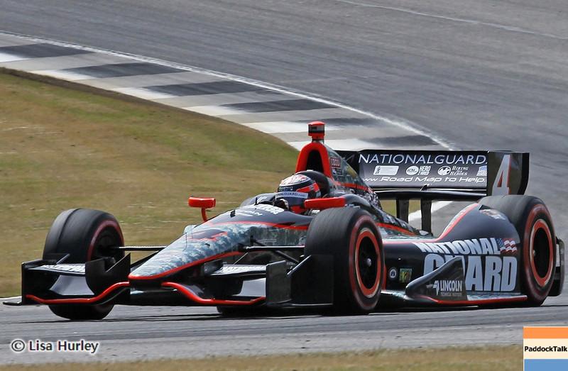 APRIL 6: JR Hildebrand during qualifying for the Honda Grand Prix of Alabama at Barber Motorsports Park.