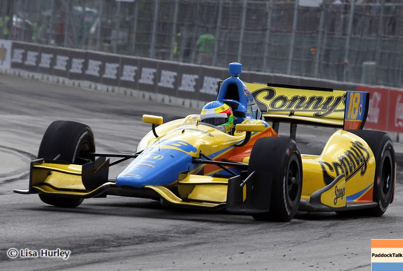 June 2: Mike Conway during the Chevrolet Detroit Belle Isle Grand Prix.