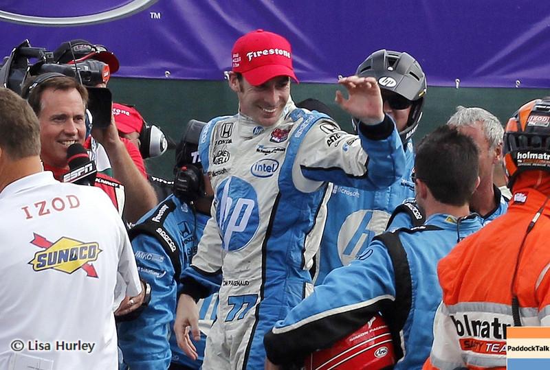 June 2: Simon Pagenaud, winner of the Chevrolet Detroit Belle Isle Grand Prix.