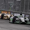 June 2: Tony Kanaan and Ryan Hunter-Reay during the Chevrolet Detroit Belle Isle Grand Prix.