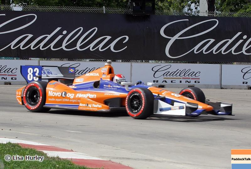 June 1: Charlie Kimball during the Chevrolet Detroit Belle Isle Grand Prix.