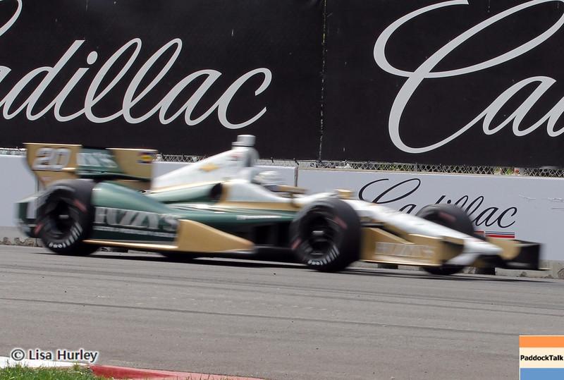 June 1: Ed Carpenter during the Chevrolet Detroit Belle Isle Grand Prix.
