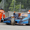 June 1: Alex Tagliani crashes during the Chevrolet Detroit Belle Isle Grand Prix.