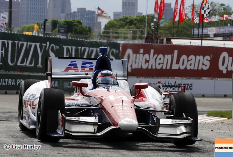 June 1: Takuma Sato during the Chevrolet Detroit Belle Isle Grand Prix.