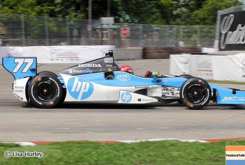 June 1: Simon Pagenaud during the Chevrolet Detroit Belle Isle Grand Prix.