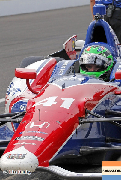 May 15: Conor Daly during practice for the 97th Indianapolis 500 at the Indianapolis Motor Speedway
